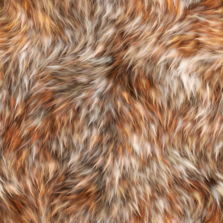 Seamless fluffy orange fur with long pile.