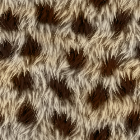 spotted fur: Seamless fluffy spotted fur with long pile.