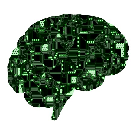 electronic board: The electronic board inside the brain.