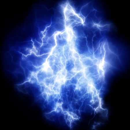 powerful: Powerful thunderbolt. Electric discharge. A high resolution.