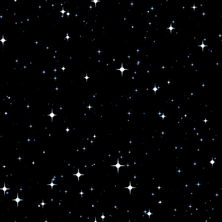 Seamless pattern of the starry sky. Stock Photo