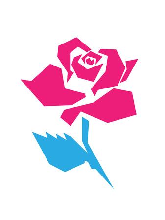 angled rose Imagens - 80369958
