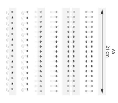 Spreadsheet voor een notebook, voor A5-formaat. EPS-10.