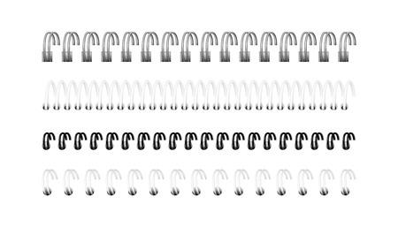 Feuilles de calcul pour la conception, calendrier, album de dessin : une vue en perspective. L'image a été créée à l'aide d'un filet de dégradé. EPS 10.