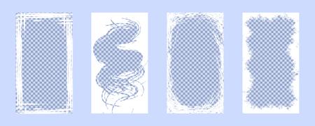 Vector frames (16: 9) for brushwork. Vector EPS 10.