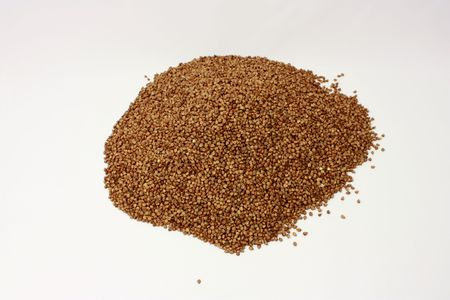Buckwheat, corn, groats Stock Photo