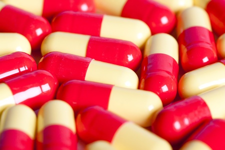 gels: background made from pills and capsules