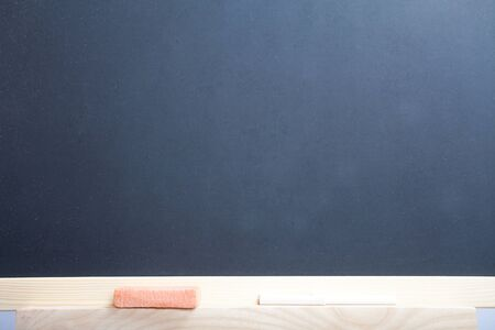 A blank school chalkboard, you can add your own text or pictures on it. photo