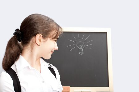 schoolgirl about a schoolboard made the correct decision Stock Photo - 10506110