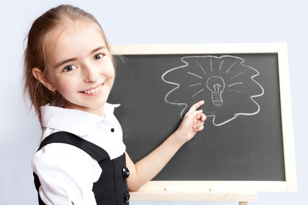 schoolgirl about a schoolboard made the correct decision Stock Photo - 10506132