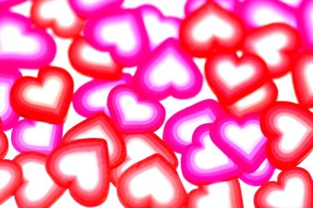 Valentines background hearts photo
