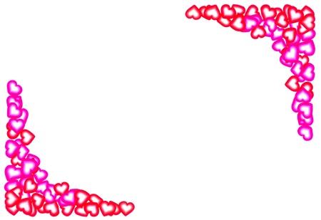 Heart Frame, Valentines background Stock Photo - 12182621