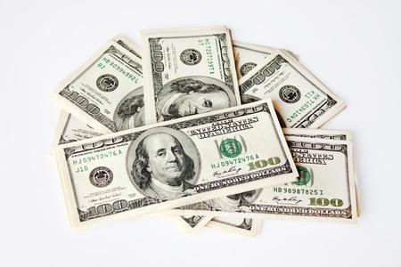 Fan of 100 dollar denominations 版權商用圖片