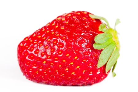 juicy ripe berry is a strawberry photo
