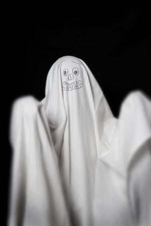 Halloween, ghost in the dark photo