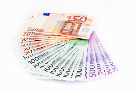 Euro Banknotes   50, 100, 500