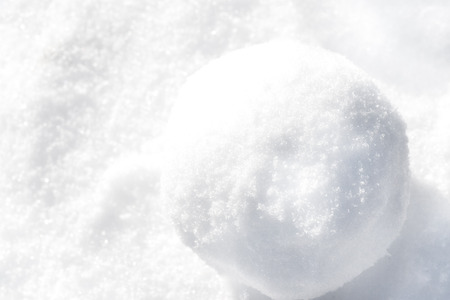 Winter background. Snowball closeup