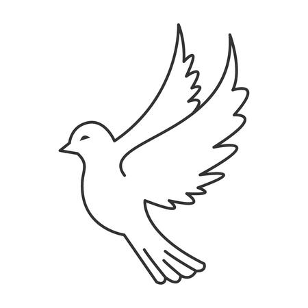 Icona di uccello colomba Archivio Fotografico - 94380530