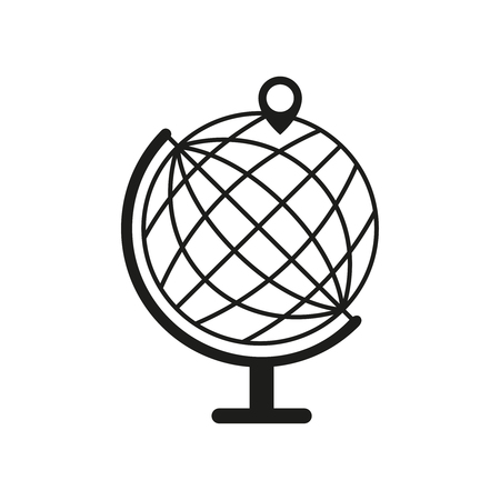 Globe with pin icon
