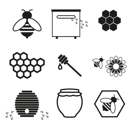 Honey online icons Illustration