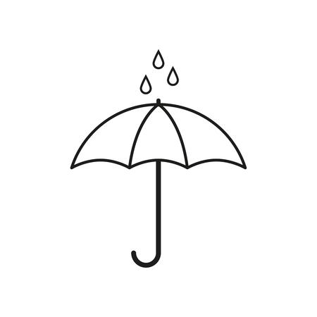 비가 아이콘 우산 벡터 일러스트 레이 션.
