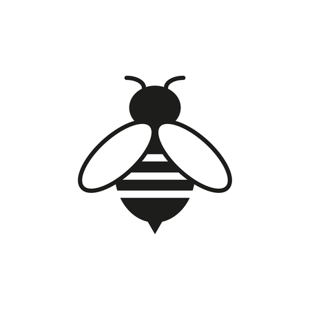 Bee online icon isolated on white background