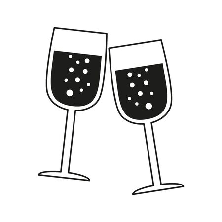 Glass of champagne icon