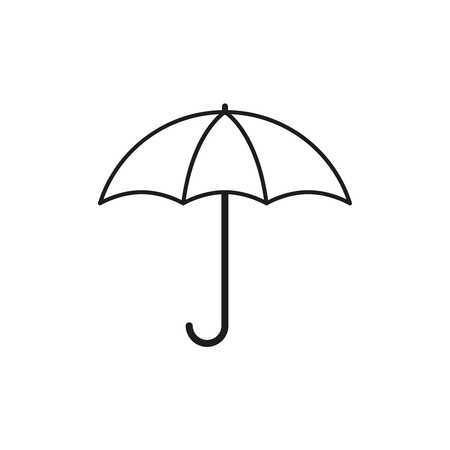 Autumn umbrella icon on white background. Çizim