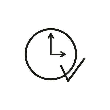 Execute clock work icon on the white background Illustration
