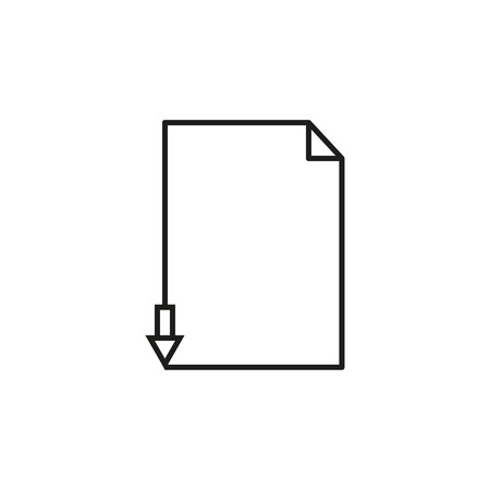 Next page letter icon on white background 向量圖像