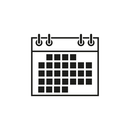 Calendar date icon on the white background