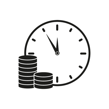 Time is money credit icons vector illustration