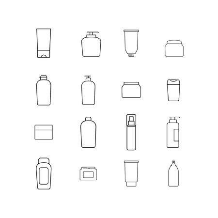 Cream bottles icons Illustration