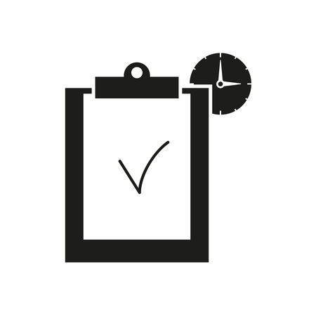 Clip board work hours icons Vectores