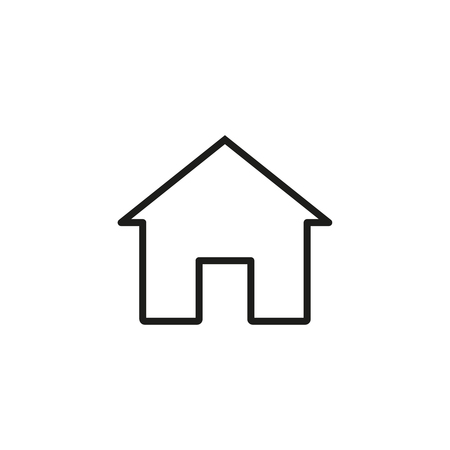 Home of online icon isolated on plain background Illustration