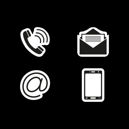 Contacts us stickers icons