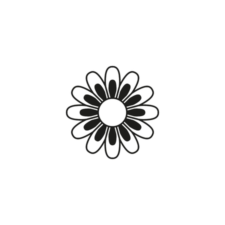 Flower of summer icon on the white background