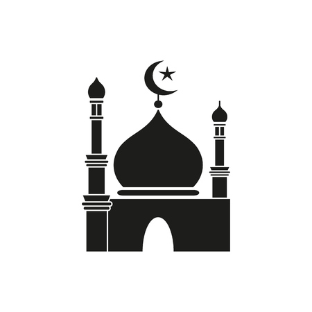 Ramadan kareem black icon 免版税图像 - 101996086