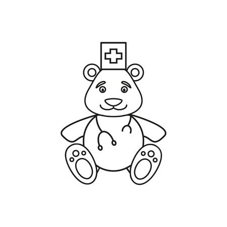 Bear of medical icon