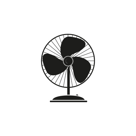Fan electronic of black icon on the white background