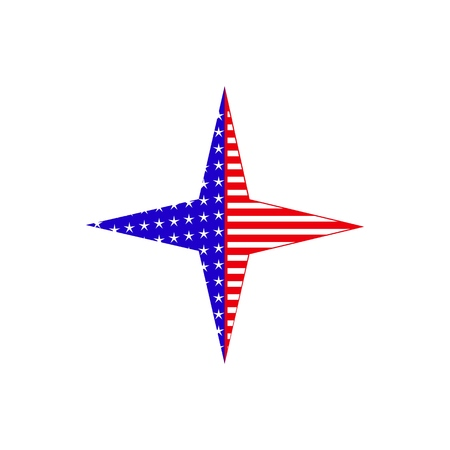 A star USA flag icon