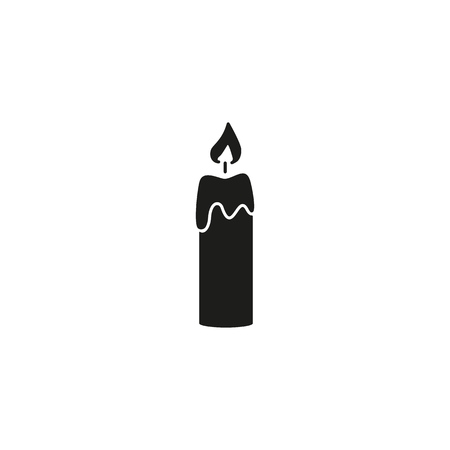 Candle of back icon