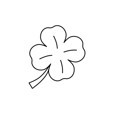 Clover of icon lucky flower on white background Vector Illustration