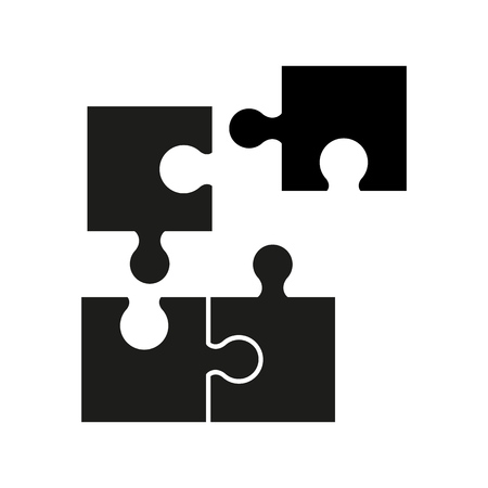 Puzzel of black icons good game skill