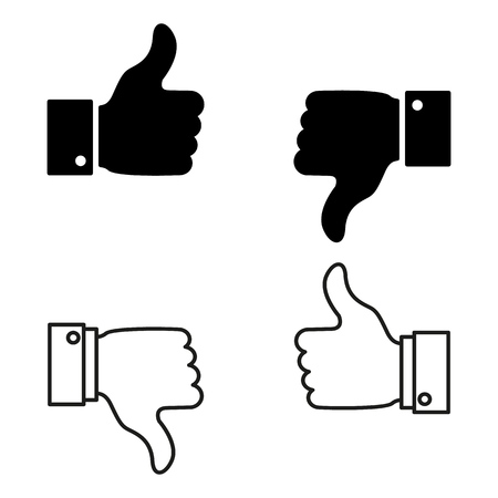 A set of good or bad news, like or dislike icons on the white background Imagens - 127711679