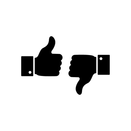 A good or bad news, like or dislike icons on the white background Imagens - 127711681