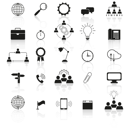 Information technology icons the set reflection on the white background Standard-Bild - 127633551
