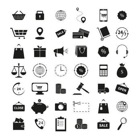 Set of shopping 42 icons on the white background Imagens - 127633552
