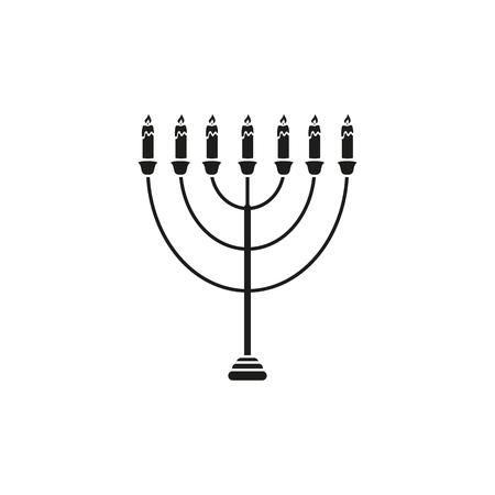Hanukkah of holiday icon on the white background Standard-Bild - 127594369