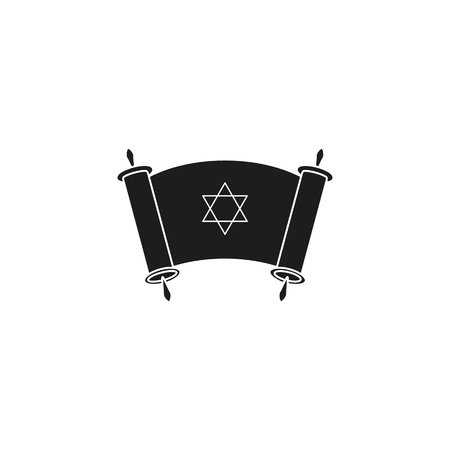 Happy day of Hanukkah day icon black on the white background Standard-Bild - 127527813